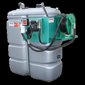 """Station fuel double paroi PEHD sans odeur 1500 L """"modèle Confort+"""" avec enrouleur et limiteur de remplissage 2"""""""