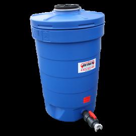 Citerne ronde 500 litres PEHD bleue compacte qualité alimentaire