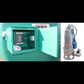 Pompe immergée inox 220V 400L/min avec dijoncteur et armoire pour station azote