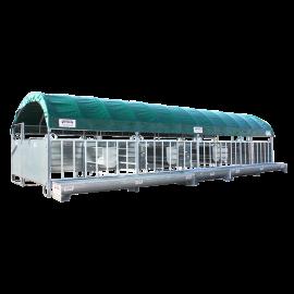 Modulabri complet et équipé pour veaux sevrés 6x4 mètres