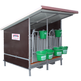 Box à veaux 2 places avec toit isolé et parois PVC