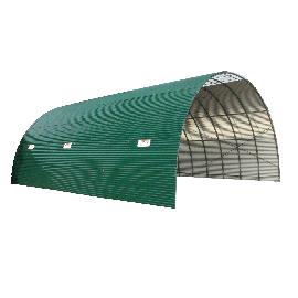 Tunnel de stockage couverture en tôle ondulée anti-condensation hauteur 3,90 m longueur 30 m