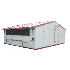 Poulailler ou bâtiment mobile pour élevage avicole en Kit 30 m2