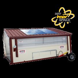 Poule'Lib poulailler bâtiment mobile en kit avec relevage hydraulique 60 m2