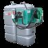 """Beiser Environnement - Station fuel double paroi PEHD sans odeur 1500 L """"modèle Confort+"""" avec enrouleur et limiteur de remplissage 2"""" - Point de vue d'ensemble"""