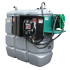 """Station fuel double paroi PEHD sans odeur 750 L sécurisée - Modèle Confort + avec limiteur de remplissage 2"""""""