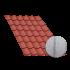Tôle tuile terra cotta, anticondensation - 3 m