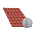 Beiser Environnement - Tôle tuile terra cotta, anticondensation, 6 m