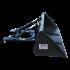 Beiser Environnement  - Godet de chargement hydraulique 2 m avec passages de fourches - Vue de profil