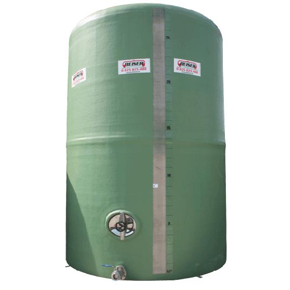 Citerne polyester 30000 litres verticale