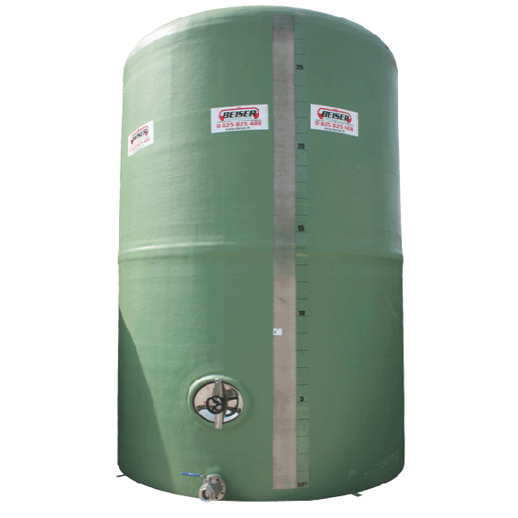 Citerne polyester 60000 litres verticale