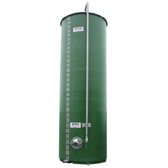 Citerne polyester verticale 25000 litres avec tube de remplissage 3 pouces en inox