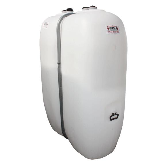 Citerne fuel blanche PEHD renforcé avec renforts métalliques 1000 litres