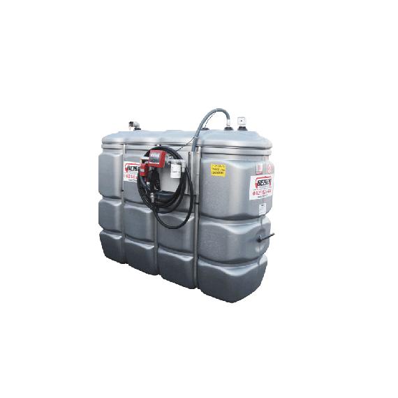 """Station fuel double paroi PEHD sans odeur 1500 L """"modèle Confort"""" avec limiteur de remplissage 2"""""""