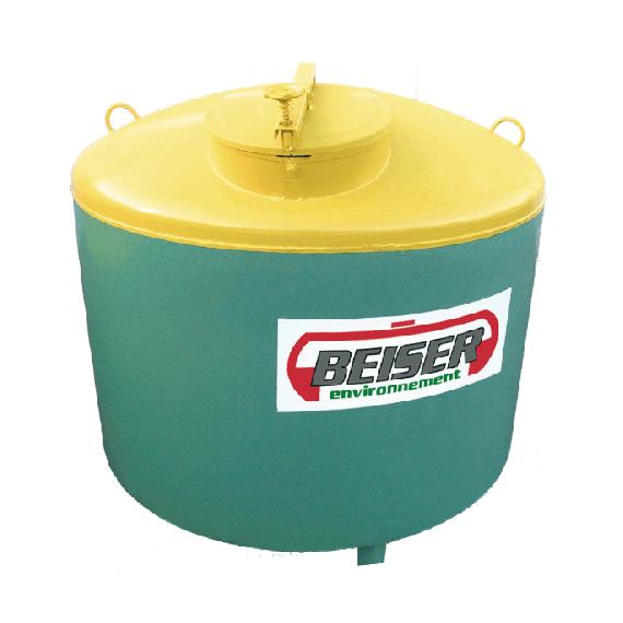 Réservoir de stockage ACIER pour huiles usagées, 1500 litres