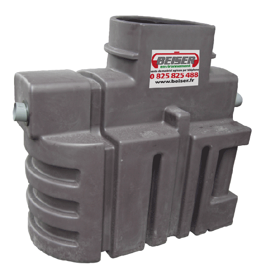 Séparateur à hydrocarbures PEHD avec débourbeur 500 litres