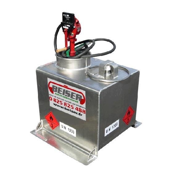 Pack transport pour essence en aluminium 80L avec pompe