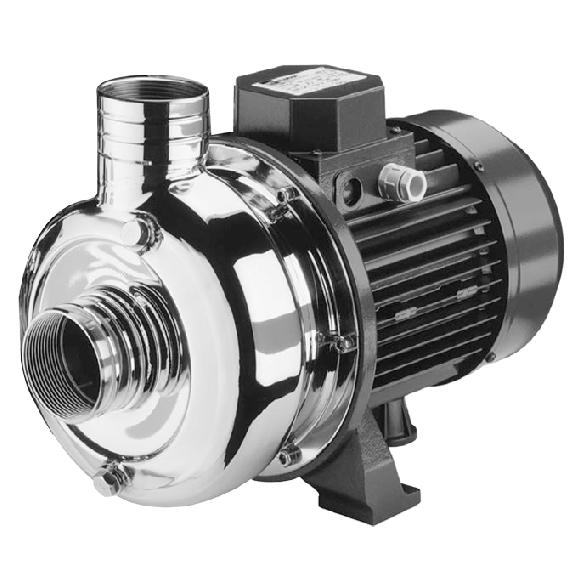 Pompe centrifuge inox 400l/min 380V triphasé avec tuyau
