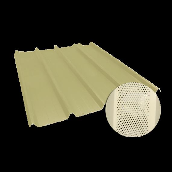 Tôle nervurée 45-333-1000, 60/100e jaune sable perforée - 6,5 m