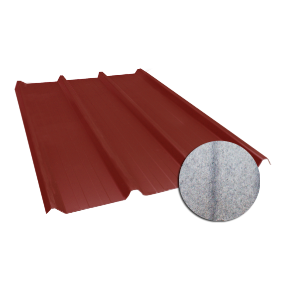 Tôle nervurée 45-333-1000, 60/100e régulateur de condensation brun rouge - 6,5 m