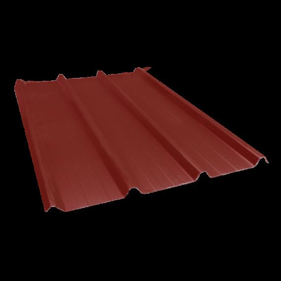 Tôle nervurée 45-333-1000, 70/100e brun rouge - 4 m
