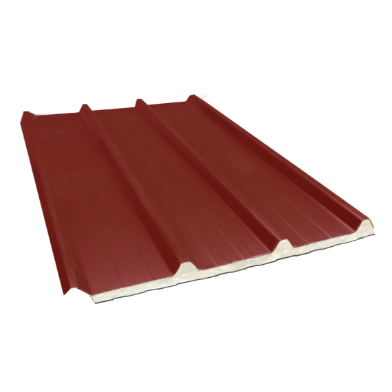 Tôle nervurée 45-333-1000 isolée sandwich 60 mm, brun rouge RAL8012, 8 m