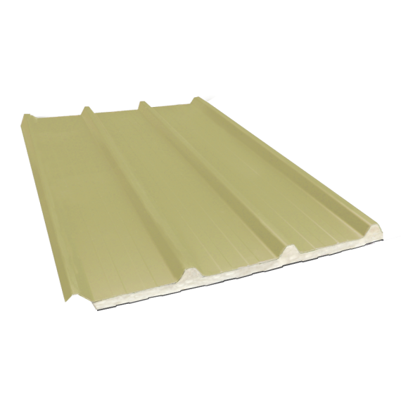 Tôle nervurée 45-333-1000 isolée sandwich 80 mm, jaune sable RAL1015, 5,5 m