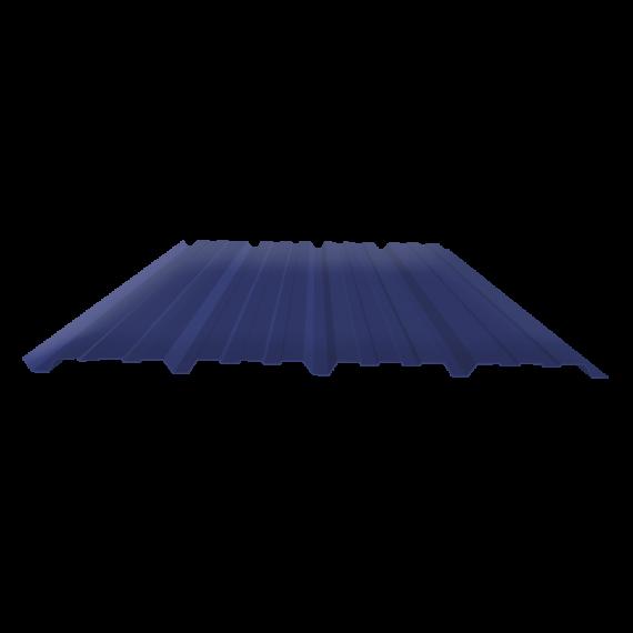 Tôle nervurée 25-267-1070, 60/100e bleu ardoise bardage - 4 m