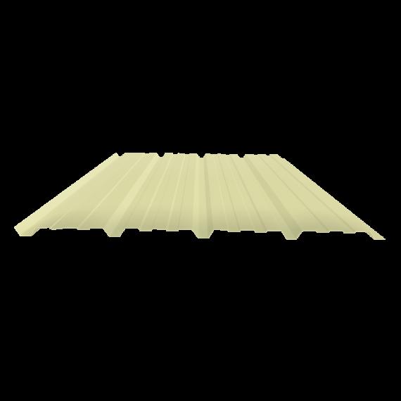 Tôle nervurée 25-267-1070, 60/100e jaune sable bardage - 6 m