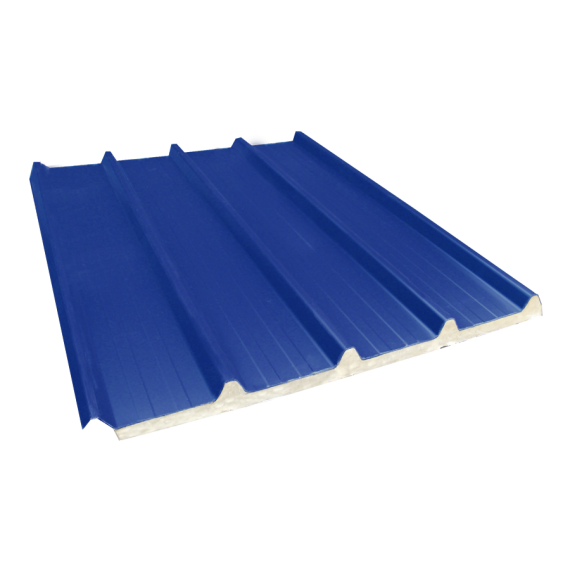 Tôle nervurée 33-250-1000 isolée économique 40 mm, bleu ardoise RAL5008, 3,5 m