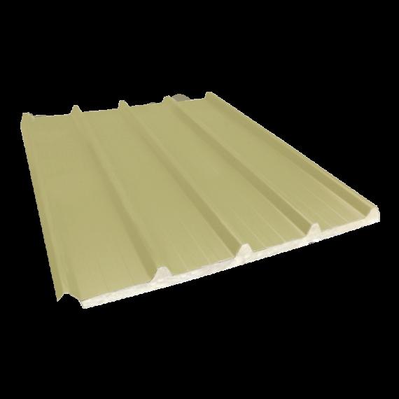 Tôle nervurée 33-250-1000 isolée économique 40 mm, jaune sable RAL1015, 5 m