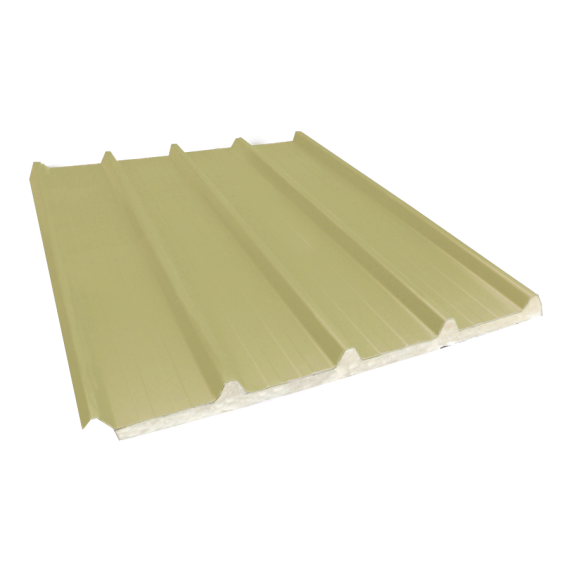 Tôle nervurée 33-250-1000 isolée économique 40 mm, jaune sable RAL1015, 6 m