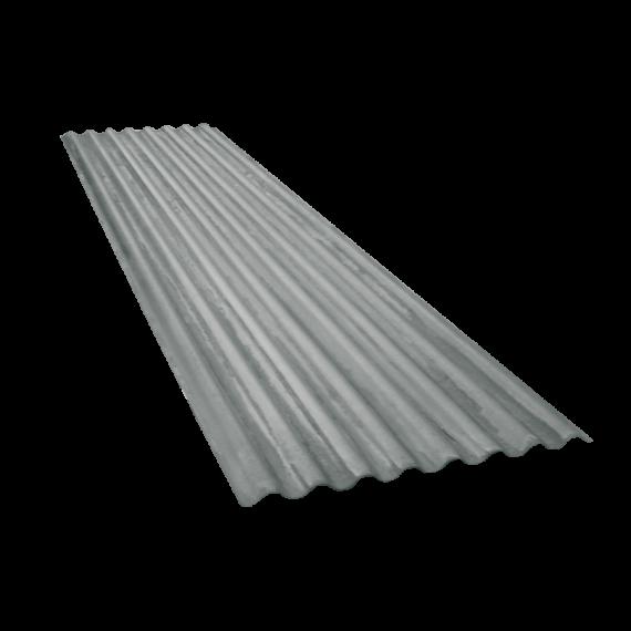 Tôle ondulée 15 ondes galvanisée, épaisseur 0,60, 2,5 m