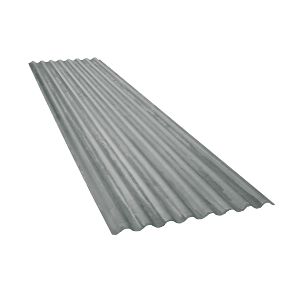 Tôle ondulée 15 ondes galvanisée, épaisseur 0,60, 7 m