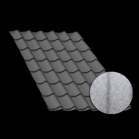 Tôle tuile gris anthracite, anticondensation - 4,5 m