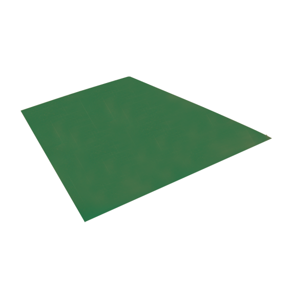 Tôle plane, vert reseda RAL6011, 1,22 x 2 m