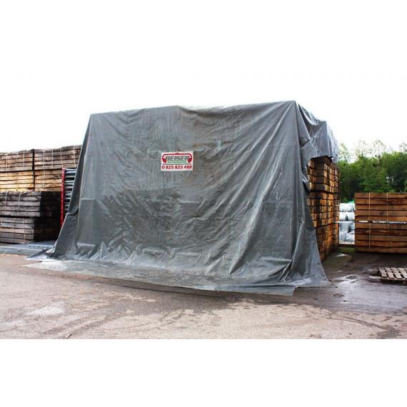 Bâche de wagon d'occasion 18 x 8 mètres nettoyée contrôlée étanche