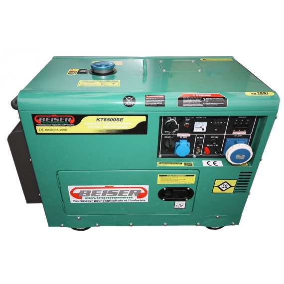 Groupe lectrog ne diesel insonoris 7 kw monophas 220v groupes lectrog n - Groupe electrogene triphase diesel 10 kw ...