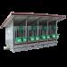 Beiser Environnement - Box à veaux 2 ou 4 places avec bac de rétention, toit isolé et parois PVC - Bac de rétention