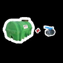 """Kit Citerne en PEHD 3500L densité 1300 kg/m3 (EP) + Vanne PVC 2"""" + Raccord pompier"""