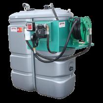 """Station fuel double paroi PEHD sans odeur 2000 L """"modèle Confort+"""" avec enrouleur et limiteur de remplissage 2"""""""