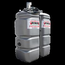 """Station citerne fuel double paroi en plastique PEHD sans odeur, 750 litres, pompe 12V avec limiteur de remplissage 2"""""""