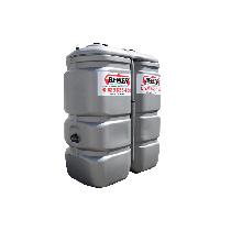 """Citerne fuel double paroi en plastique PEHD sans odeur, 750 litres Grise avec limiteur de remplissage 2"""""""