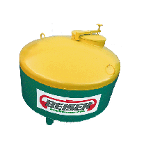 Réservoir de stockage ACIER pour huiles usagées, 2000 litres