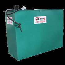 Station citerne fuel acier simple paroi 2000 L avec bac de rétention/pompe compacte