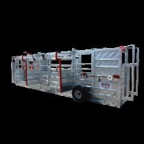 Couloir de contention galvanisé 8,50 m avec relevage hydraulique système de pesée toutes options nouveau modèle