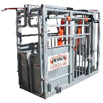Cage de contention (porte avant guillotine + porte arrière pour insémination)