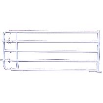 Barrière de stabulation extensible avec verrous, 5 lisses, 4/5 m