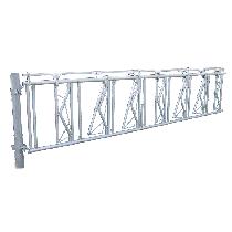 Barrière cornadis avec limiteur de pendaison, 5 m, 7 places