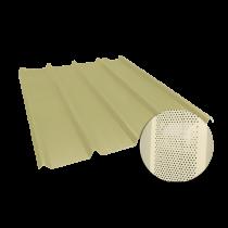 Tôle nervurée 45-333-1000, 60/100e jaune sable perforée - 2,5 m